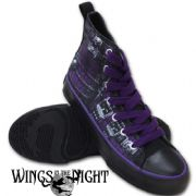 SPIRAL DIRECT Waisted Corset  Ladies High Top Sneakers | Gothic Shoes | Footwear